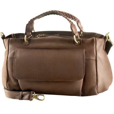 EW Top Zip Satchel Bag w/ Twin Handle