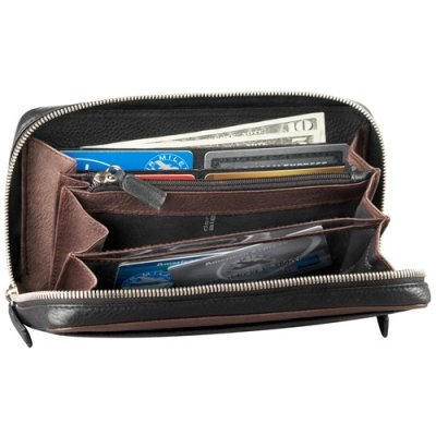 Full Zip Organizer Clutch Wallet