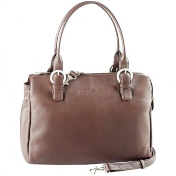 Twin Handle Zipper Satchel