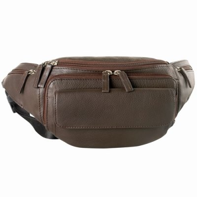 Waist Bag Three Zippered Compartments
